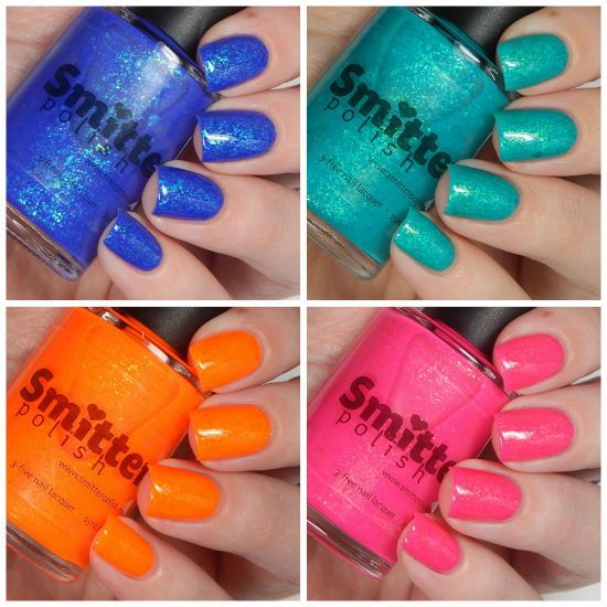 Smitten Polish Summer 2015 Neon Flakes Collection Swatches & Review