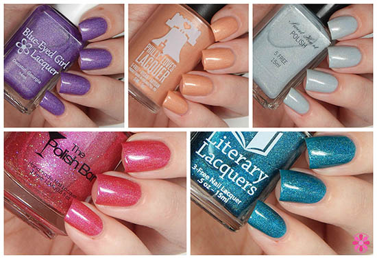 June Addicted to Holos Indie Box Swatches