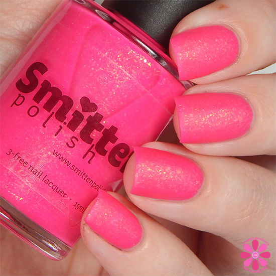 Smitten Polish Summer 2015 Neon Flakes Collection Pool Noodle Swatch matte