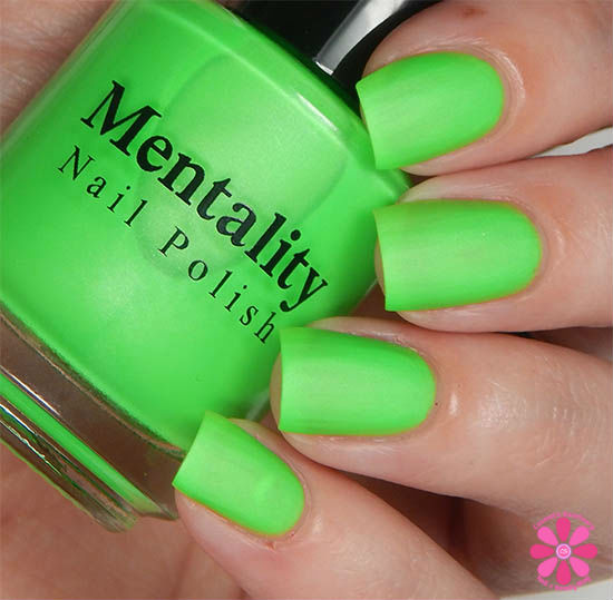 Mentality Nail Polish Neon Mattes Collection Quash Swatch