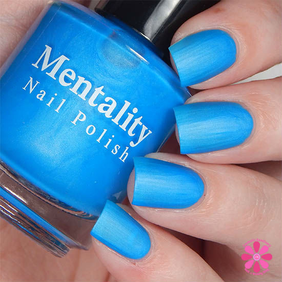 Mentality Nail Polish Neon Mattes Collection Ravage Swatch