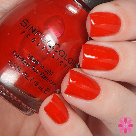 SinfulColors Having A Blast Collection Ruby Ruby Swatch