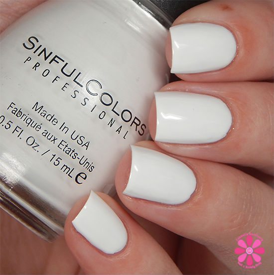 SinfulColors Having A Blast Collection Snow Me White Swatch