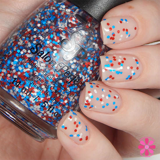 Salon Perfect Rockin The Red, White & Blue Collection Speck-tacular Swatch