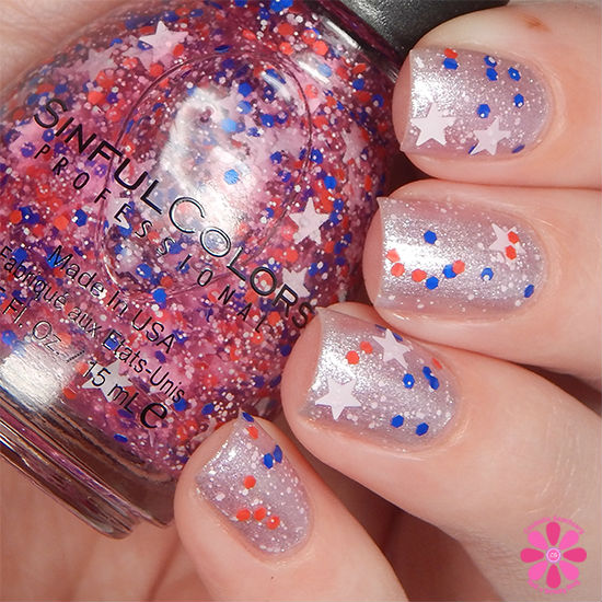 SinfulColors Having A Blast Collection Star Blast Off Swatch