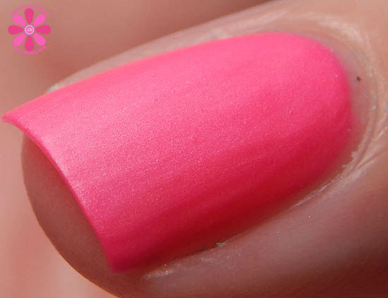 Mentality Nail Polish Neon Mattes Collection Terminate Swatch macro