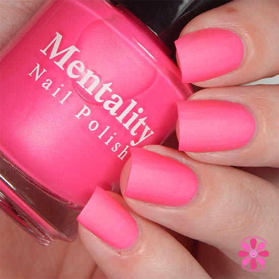 Mentality Nail Polish Neon Mattes Collection Terminate Swatch