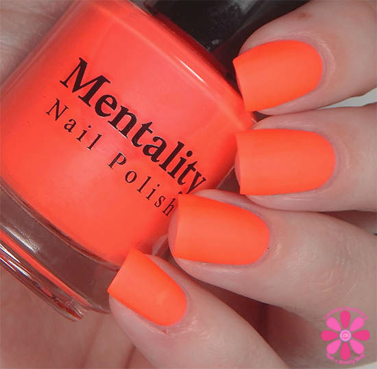 Mentality Nail Polish Neon Mattes Collection Wreck Swatch