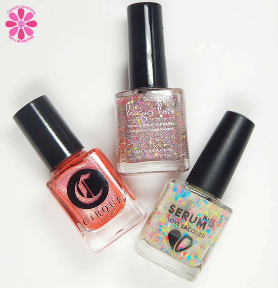 Serum No 5, Cirque Colors & Lacquer Lust Summer Fest 2015 Trio Reveal, Swatch & Review