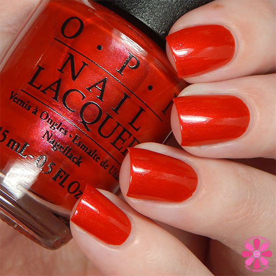 OPI Fall 2015 Venice Collection Gimme a Lido Kiss Swatch