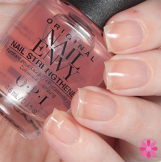 OPI Nail Envy Pink To Envy Swatch