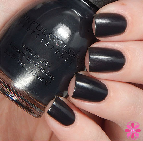 SinfulColors A Class Act Collection Blackboard Swatch