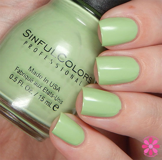 SinfulColors A Class Act Collection Chalk It Up Swatch
