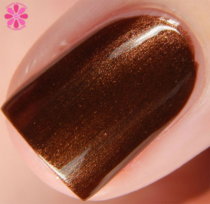 Zoya Fall 2015 Flair Collection Cinnamon Swatch Macro