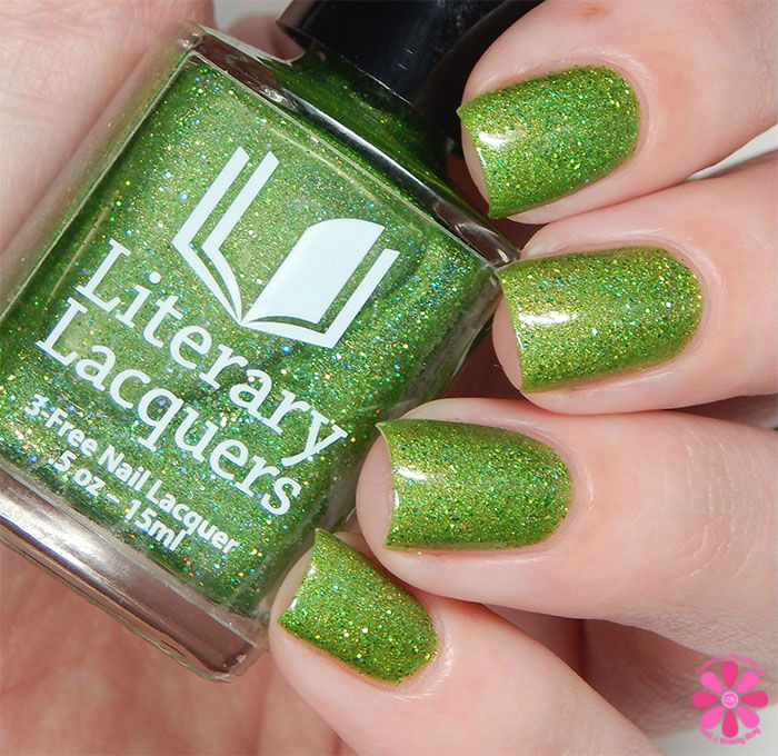 August Addicted to Holos Indie Box Literary Lacquers Can't Work by Lime Light Swatch