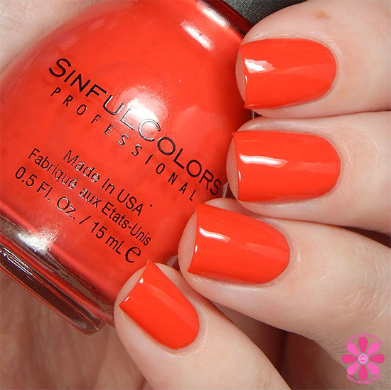 SinfulColors A Class Act Collection Energetic Red Swatch