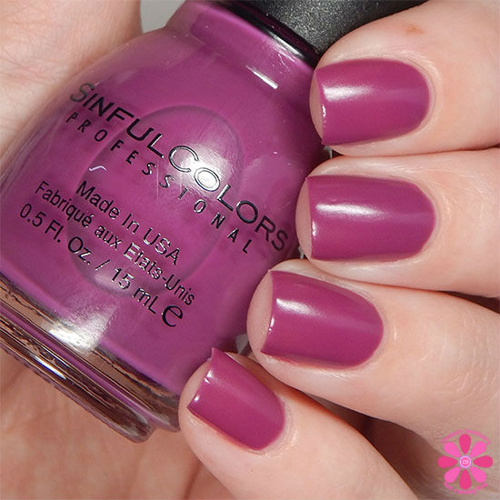 SinfulColors A Class Act Collection Hazed Swatch Swatch
