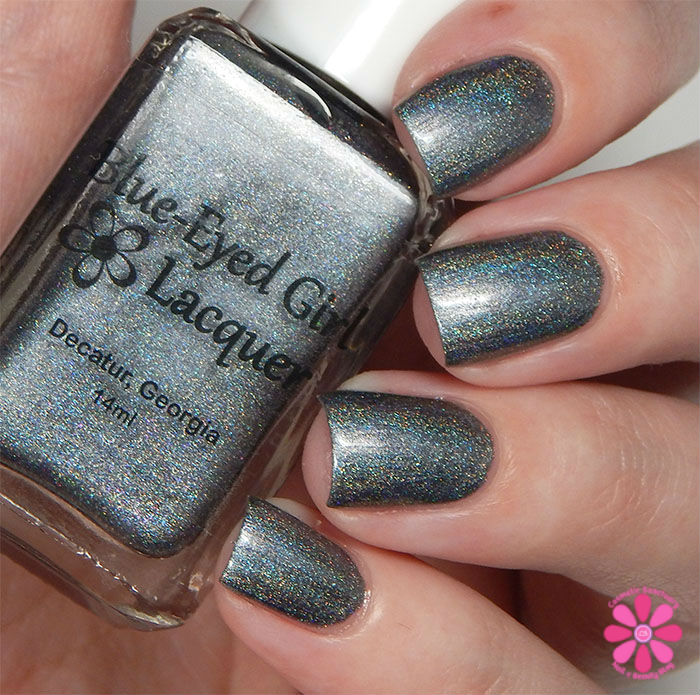 August Addicted to Holos Indie Box Blue-Eyed Girl Lacquer Heat Lightning Swatch