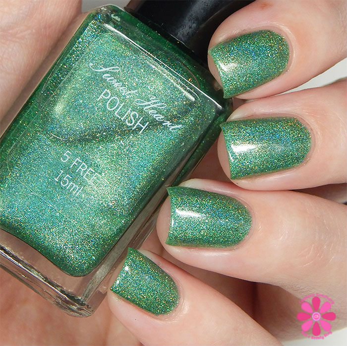 August Addicted to Holos Indie Box Sweet Heart Polish Hot August Nights Swatch