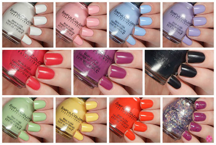 SinfulColors A Class Act Partial Collection Swatches & Review