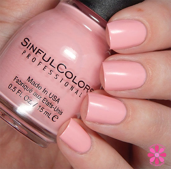 SinfulColors A Class Act Collection Pink Break Swatch