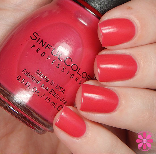 SinfulColors A Class Act Collection RADient Swatch
