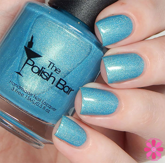August Addicted to Holos Indie Box The Polish Bar Surf Blue Swatch
