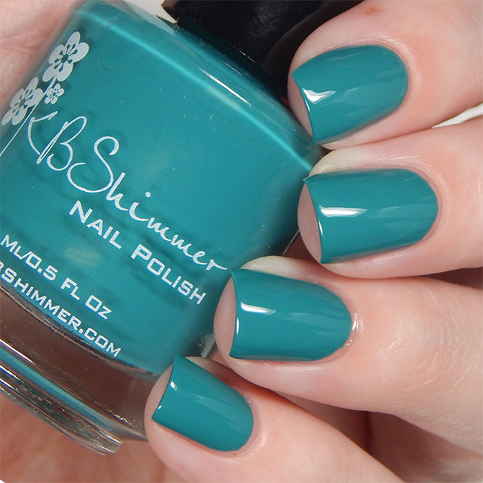 KBShimmer Fall 2015 Collection Teal It To My Heart Swatch