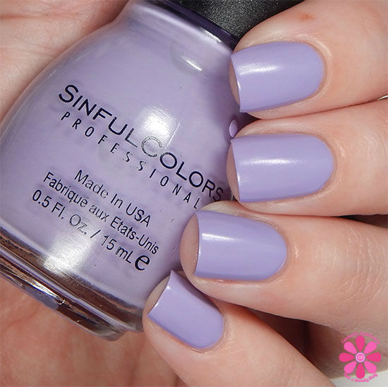 SinfulColors A Class Act Collection Truth Or Lavendare Swatch