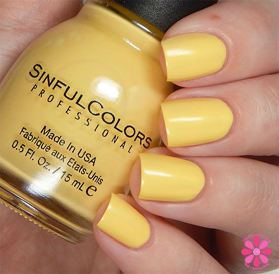 SinfulColors A Class Act Collection VIPeach Swatch