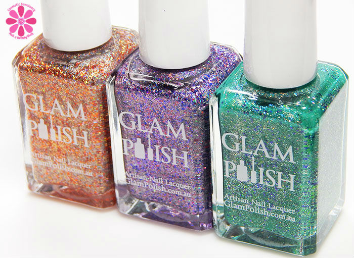 Glam Polish Limited Edition Halloween Trio – Fall'n For You, Frankenslime & Which Witch Swatches & Review