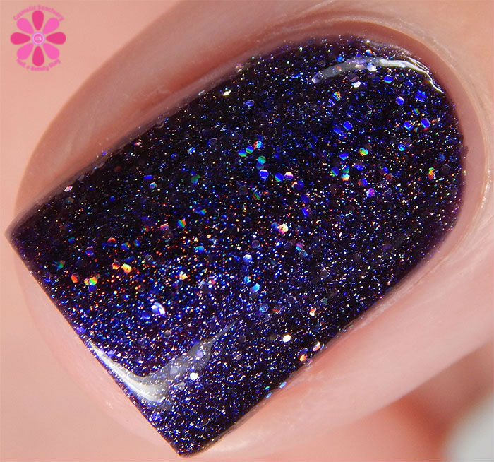 Glam Polish Darkly Dreaming Collection Dooms Day Swatch Macro