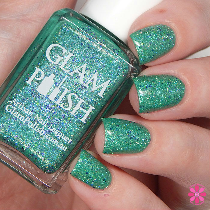Glam Polish Limited Edition Halloween Trio Frankenslime 2015 Swatch