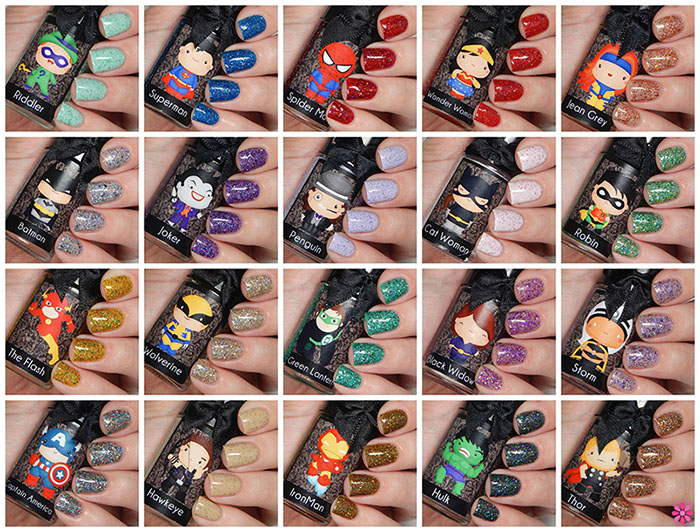 Esmaltes Da Kelly DC & Marvel Comics Collection Swatches & Review