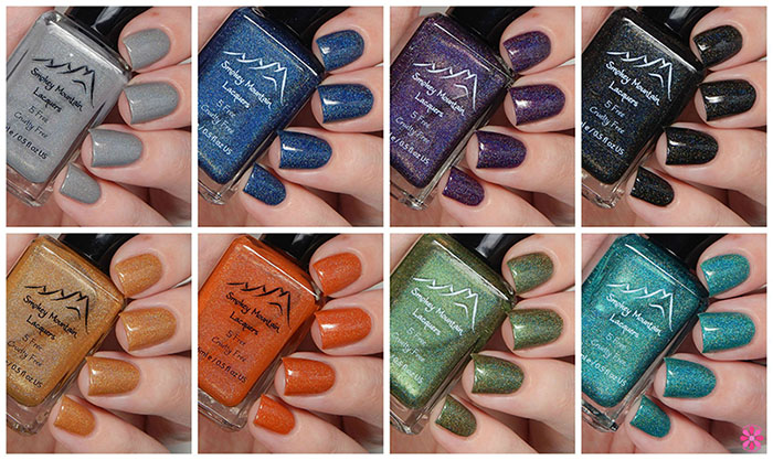 Smokey Mountain Lacquers Fallin' For Holos Collection Swatches & Review