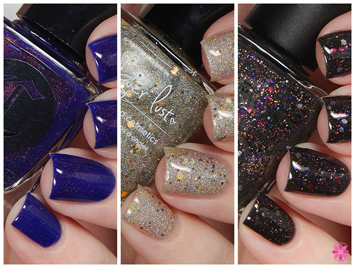 Serum No 5, Cirque Colors & Lacquer Lust All Holos Eve Collaboration Trio Reveal, Swatch & Review