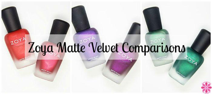 Zoya Matte Velvet Comparisons