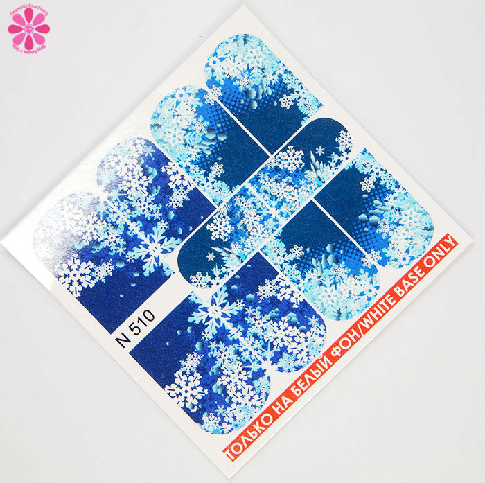 Snowflake Decal Sheet