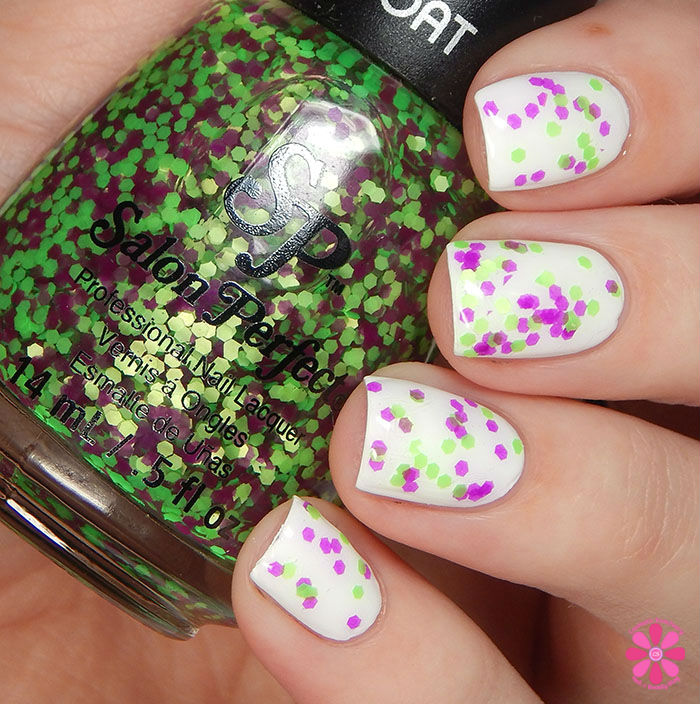 Salon Perfect Halloween 2015 Collection Witches' Brew over Sugar Cube Swatch