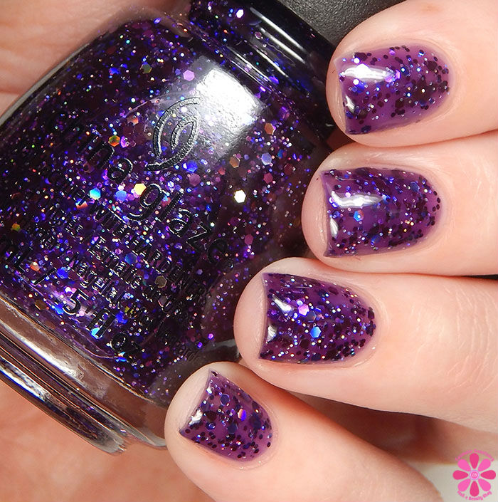 China Glaze Holiday 2015 Cheers Collection Brand Sparkin' New Year Swatch