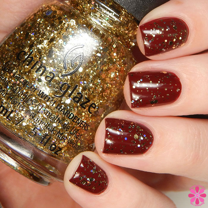 China Glaze Holiday 2015 Cheers Collection Bring On The Bubbly Swatch