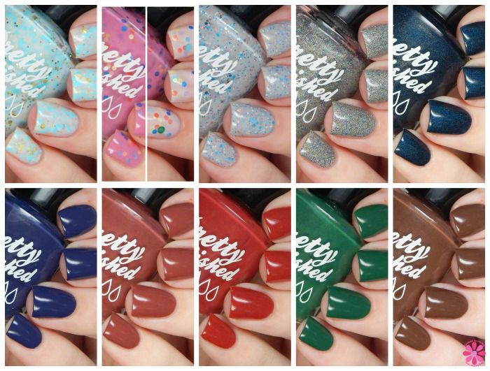 Pretty & Polished Winter 2015 Collection Swatches & Review