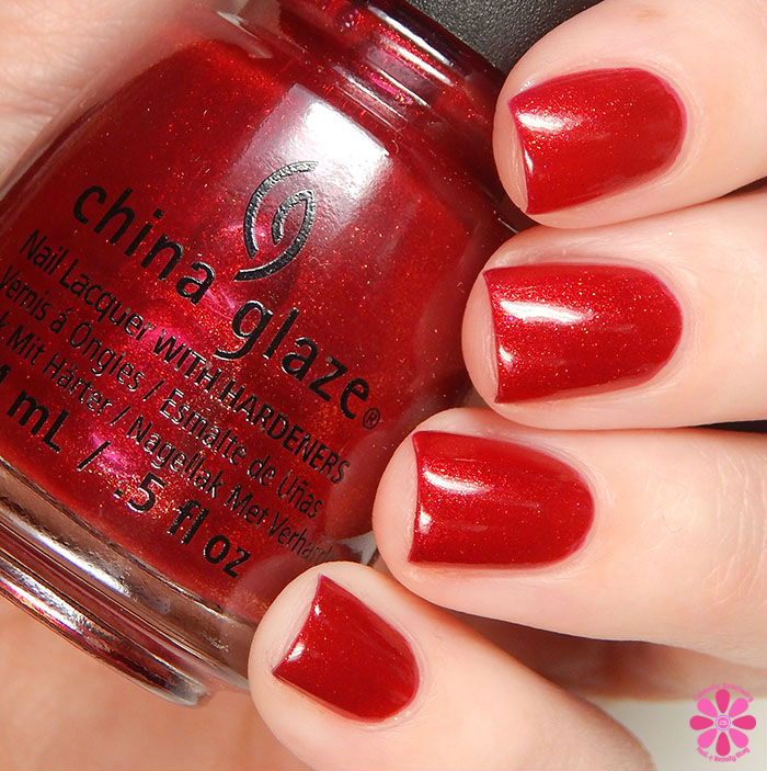 China Glaze Holiday 2015 Cheers Collection Peppermint To Be Swatch