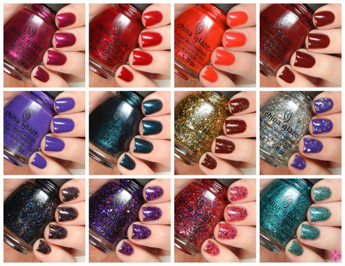 China Glaze Holiday 2015 Cheers Collection Swatches & Review