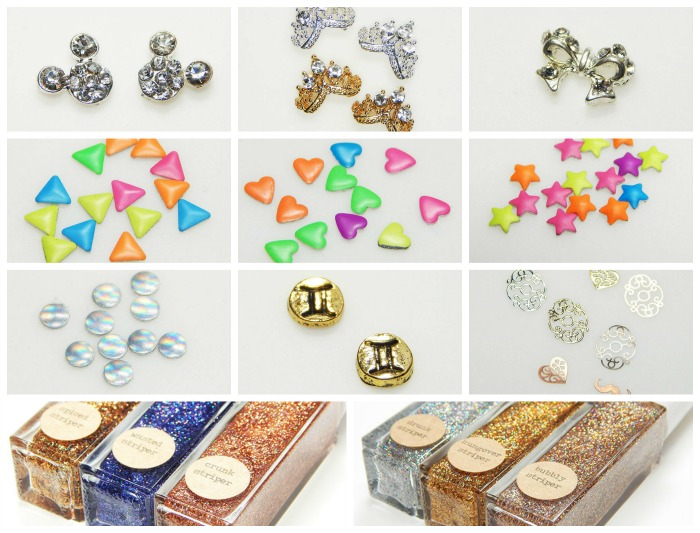 Painted Polish Nail Charms & Nail Art Review
