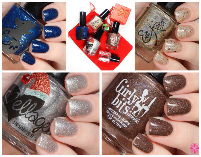 The First Gift of Christmas Collaboration Box   Girly Bits, Ellagee, Ever After & Frenzy Polish   Reveal, Swatches & Review