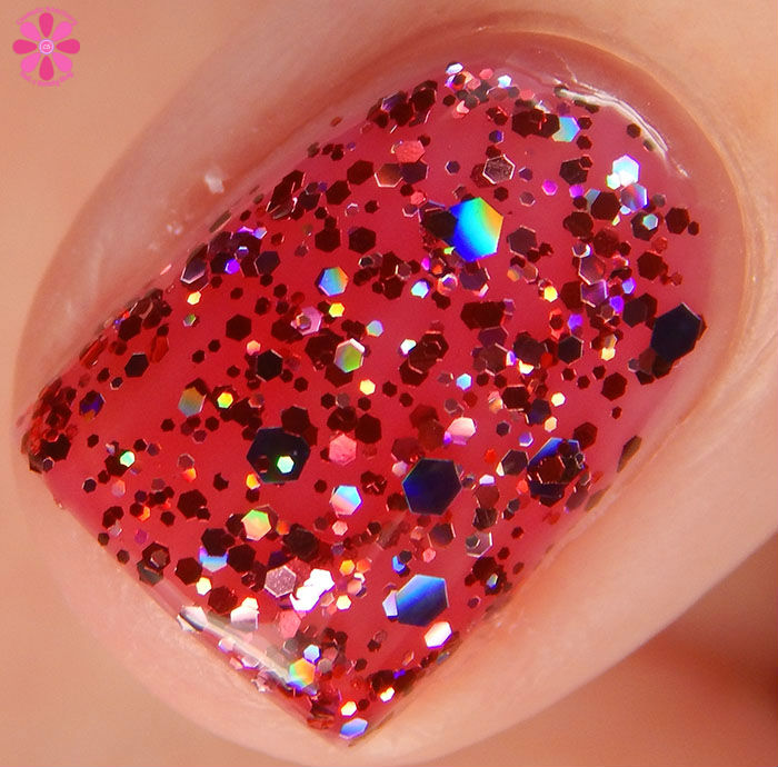 China Glaze Holiday 2015 Cheers Collection Ugly Sweater Party Swatch Macro