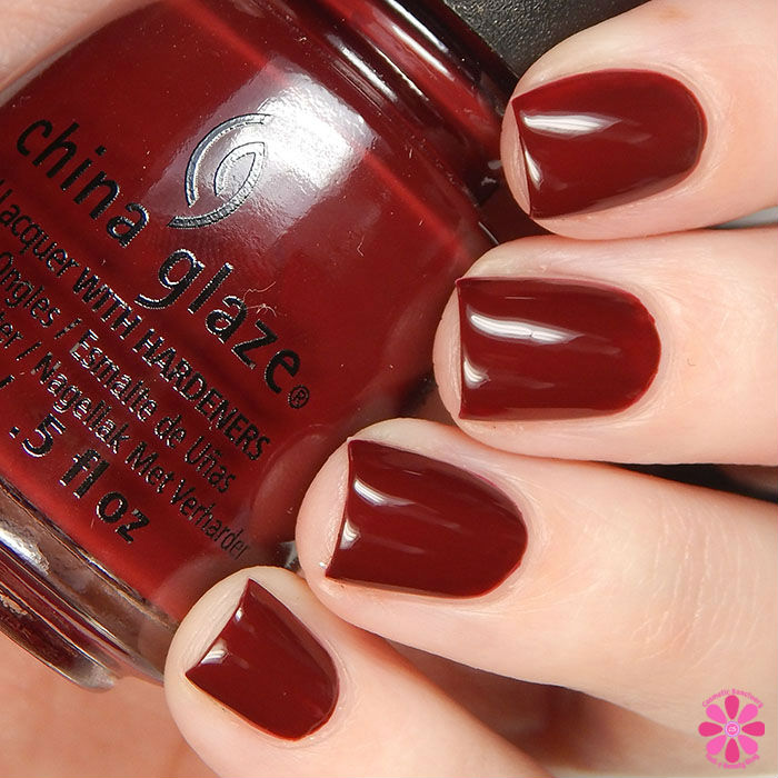 China Glaze Holiday 2015 Cheers Collection Wine Down For What? Swatch