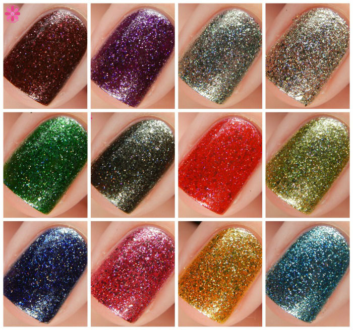 KBShimmer Birthstone Collection Macro Collage