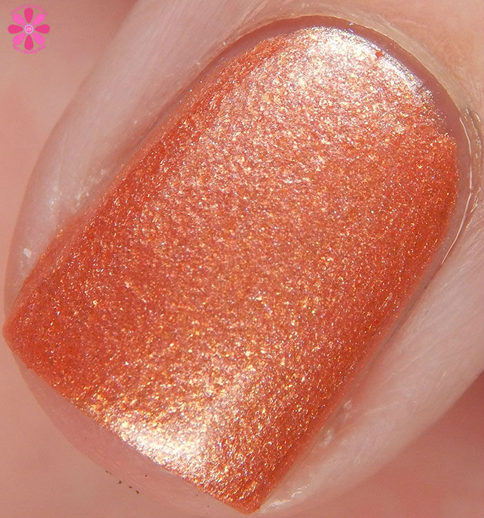 My Indie Polish New Years Trio Rose Gold Nights Swatch Macro